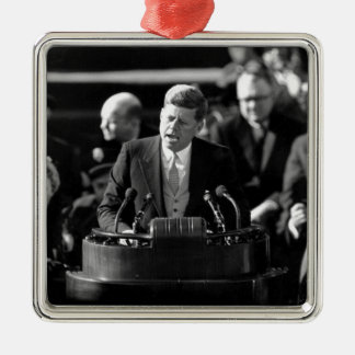 JFK Inauguaration Metal Ornament