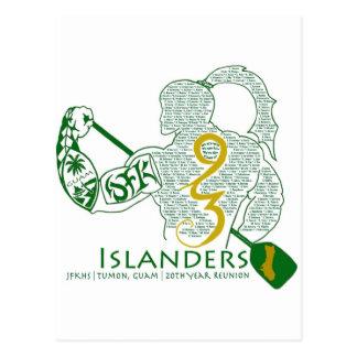 JFK Islanders 93 Reunion Gear Postcard