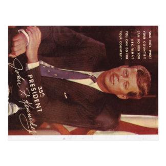 JFK Kennedy president Postcard
