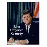 JFK official portrait from public domain Postcard