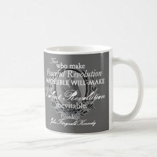 JFK on Peaceful or Violent Revolution Coffee Mug