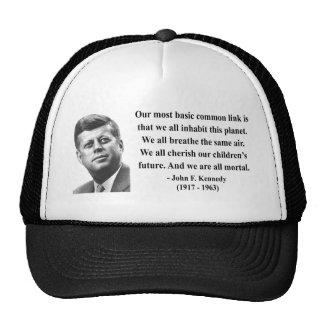 JFK Quote 2b Mesh Hats