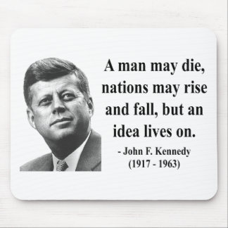 JFK Quote 4b Mouse Pad