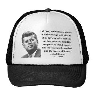 JFK Quote 5b Cap
