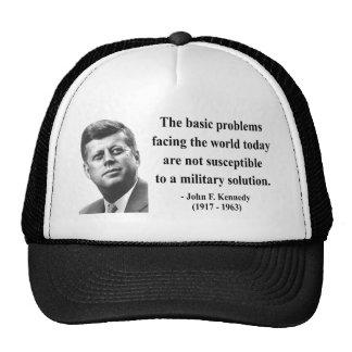 JFK Quote 6b Cap