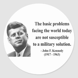 JFK Quote 6b Classic Round Sticker
