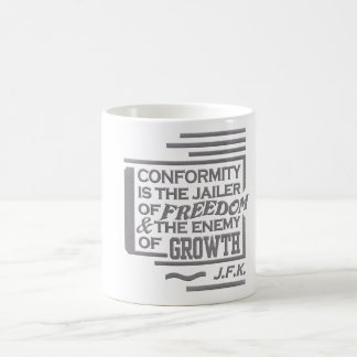 JFK quote mug - choose style & color