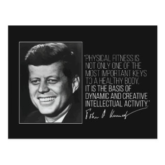 JFK quote on Fitness postcard