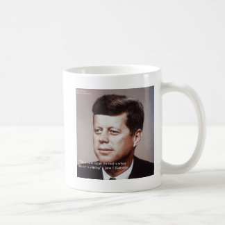 JFK Repair The Roof Famous Quote Basic White Mug