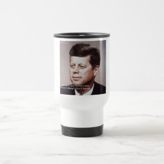 JFK Repair The Roof Famous Quote Stainless Steel Travel Mug