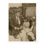JFK riding Postcard