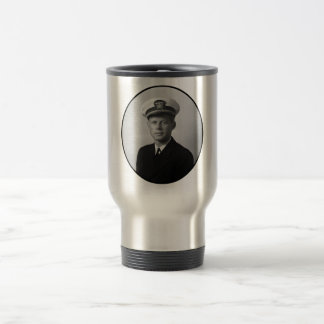 JFK Wearing His Navy Uniform Travel Mug