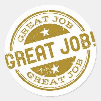 "JFluence ""Great Job"" stickers"