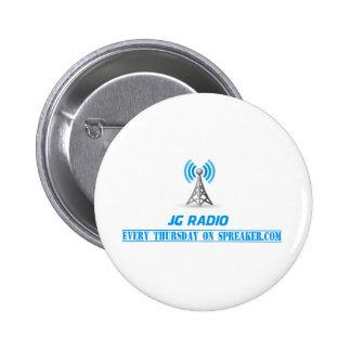 JG radio products 6 Cm Round Badge