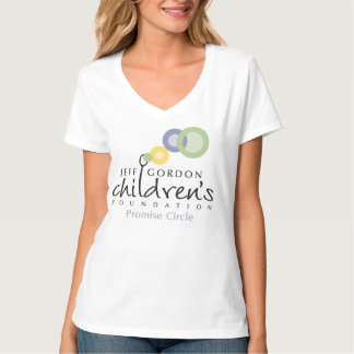 JGCF Promise Circle Ladies Hanes V-Neck T T-Shirt