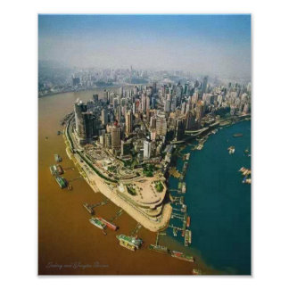 Jialing and Yangtze Rivers - Poster Paper (Matte)