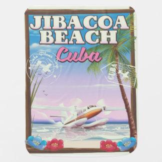 Jibacoa beach Cuba travel poster Baby Blanket