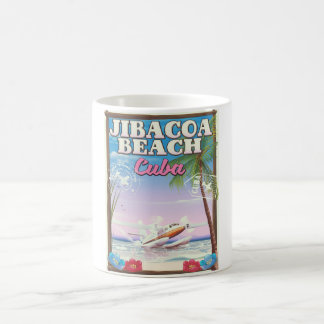 Jibacoa beach Cuba travel poster Coffee Mug