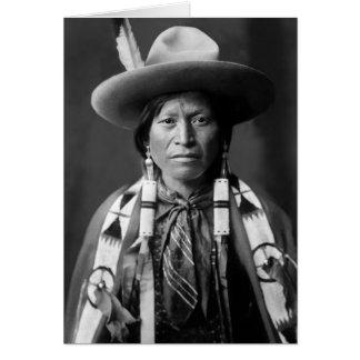Jicarilla Apache Cowboy Card