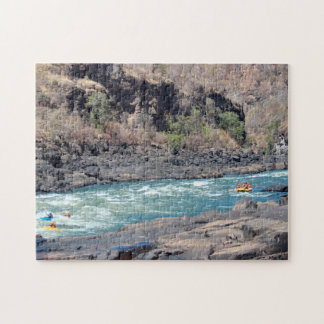 Jigsaw Canoeing on Zambezi River. Jigsaw Puzzle