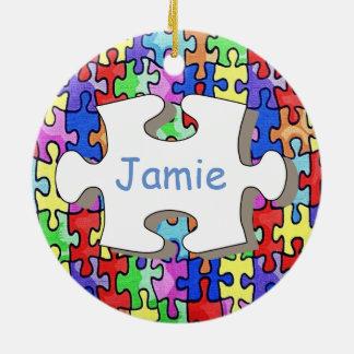 Jigsaw Ceramic Ornament