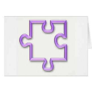 Jigsaw Cutout Greeting Card