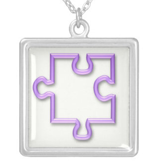 Jigsaw Cutout Necklace