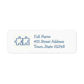 Jigsaw Cutout Return Address Label