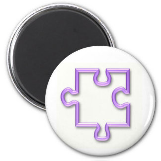 Jigsaw Cutout Round Magnet