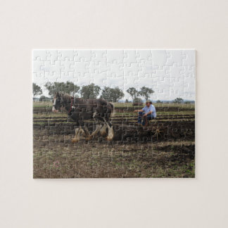 Jigsaw of draught horse at work jigsaw puzzle