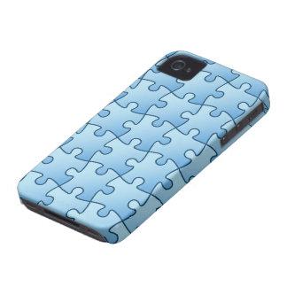Jigsaw pattern fun blue BlackBerry Bold case