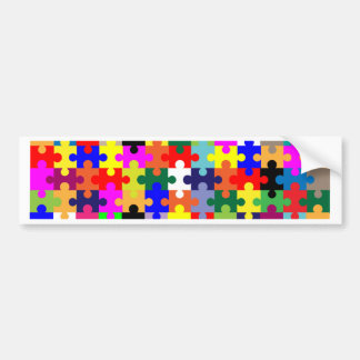 Jigsaw Pieces In Colour Bumper Sticker