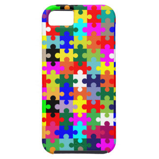 Jigsaw Pieces In Colour Case For The iPhone 5