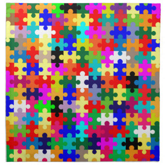 Jigsaw Pieces In Colour Napkin