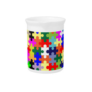 Jigsaw Pieces In Colour Pitcher