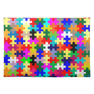 Jigsaw Pieces In Colour Placemat