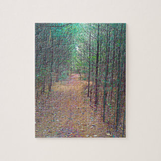 Jigsaw Puzzle -  Nature Trail Pattern Full Color