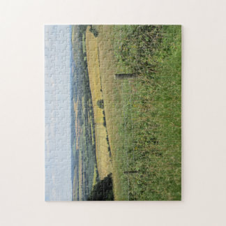 Jigsaw Puzzle of Distant Hills in the South Downs