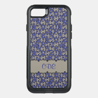 Jigsaw puzzle pattern monogram or name OtterBox commuter iPhone 7 case