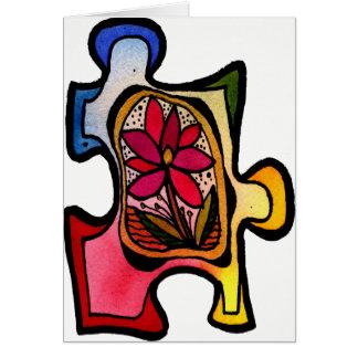 Jigsaw Puzzle Piece 11 Card