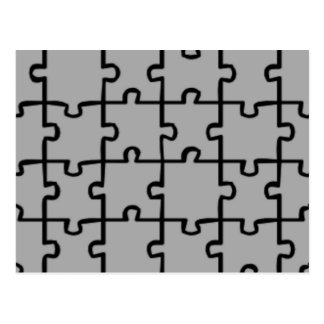Jigsaw Puzzle Pieces Pattern 4 Post Card