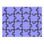 Jigsaw Puzzle Pieces Pattern CUSTOM COLOR Postcard