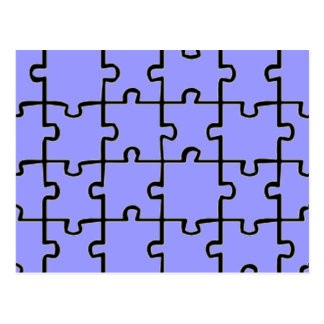 Jigsaw Puzzle Pieces Pattern CUSTOM COLOR Postcard