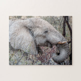 Jigsaw Puzzle Portrait of an Elephant Browsing