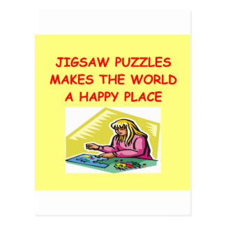 jigsaw puzzles postcard