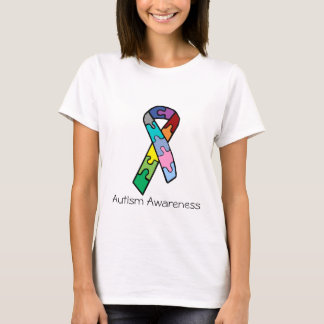 Jigsaw ribbon, Autism Awareness shirt