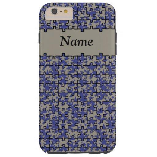 Jigsaw Stars royal blue aluminium personalised Tough iPhone 6 Plus Case