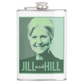 Jill Not Hill - Jill Stein not Hillary Clinton - G Hip Flask