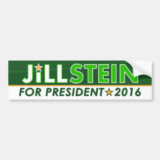 Jill Stein - Green Party Political Bumper Sticker