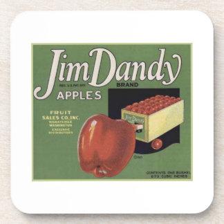 Jim Dandy Apples Beverage Coaster
